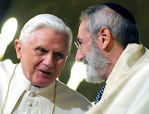 """Il vero """"shalom"""" tra papa e rabbino"""