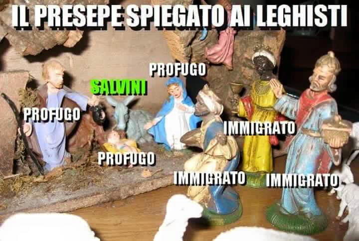 Salvini, La Russa, Gelmini: i tre Re Magi che molestano il bambinello