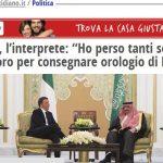 """L'interprete arabo del Governo racconta al """"Fatto"""" la vicenda dei rolex sauditi, che gli è costata il lavoro"""