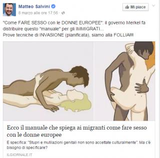 Il manuale sul sesso per i migranti che ha scandalizzato Salvini e Il Giornale è solo buon senso