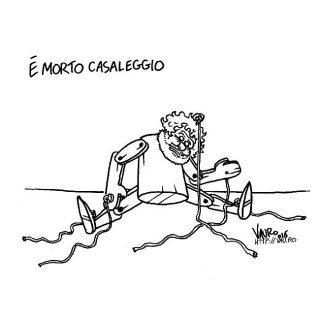 La vignetta di Vauro su Casaleggio è capace di far pensare, senza ipocrisia