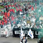 Le proteste contro le riforme del mercato del lavoro in Francia e in Belgio