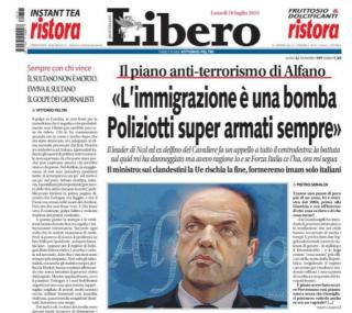 Ora Feltri strizza l'occhio ad Alfano. Vittorio e Angelino fanno la voce grossa contro l'islam